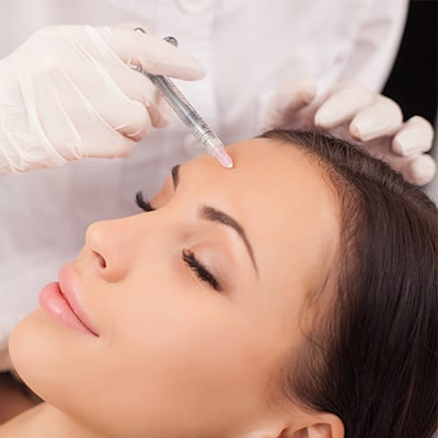 medspa injection on womans face